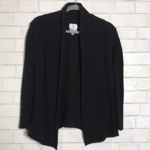 Susina Cashmere Cardigan Sweater Black Small Point